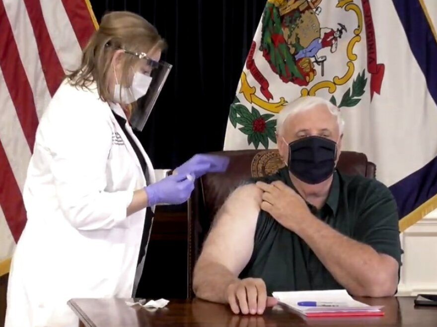 On Dec. 14, West Virginia Gov. Jim Justice was one of the first U.S. elected officials to get immunized against COVID-19. The state has since completed a first round of shots in all long-term care facilities as well as with front-line health workers.