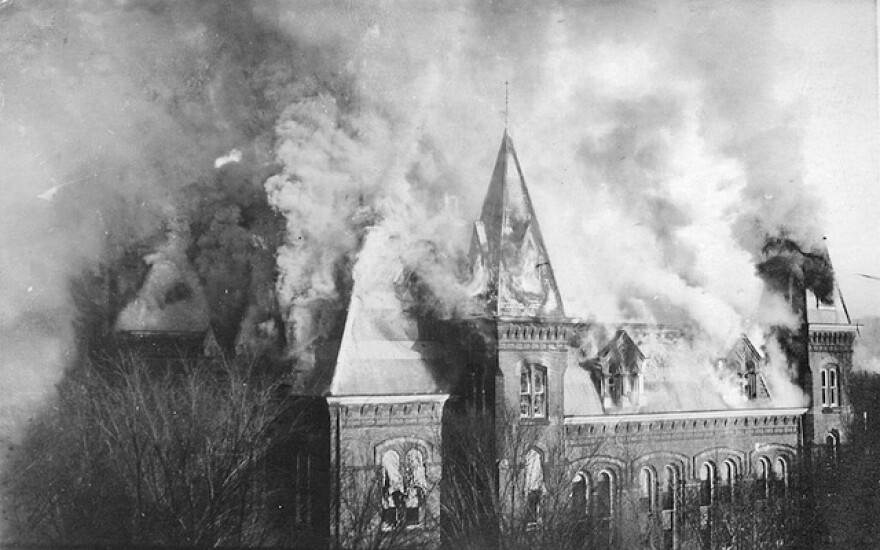 State Capitol burns.
