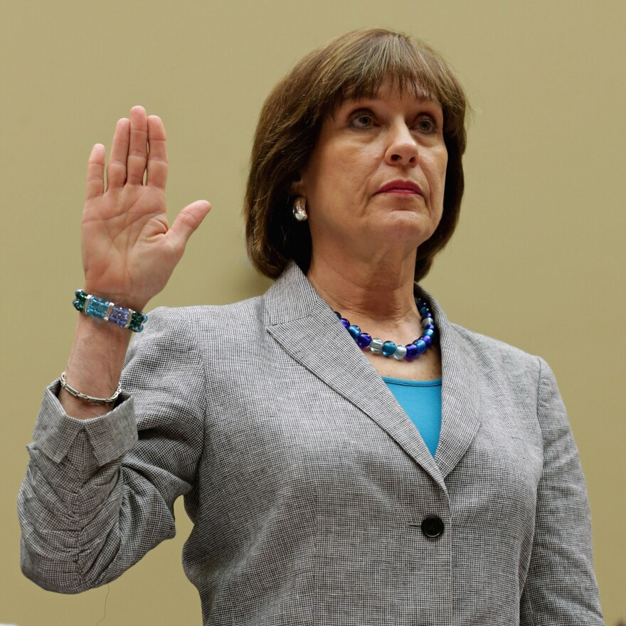 Internal Revenue Service Director of Exempt Organizations Lois Lerner, as she was sworn in at a hearing Wednesday by the House Committee on Oversight and Government Reform.
