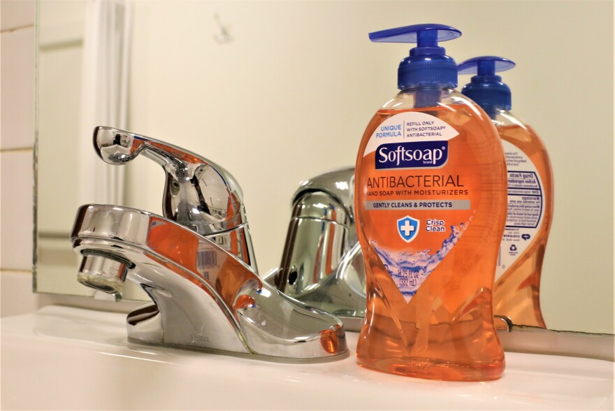 Photo of antibacterial soap. Health officials say one way to stop the spread of the new coronavirus is to wash your hands for at least 20 seconds.