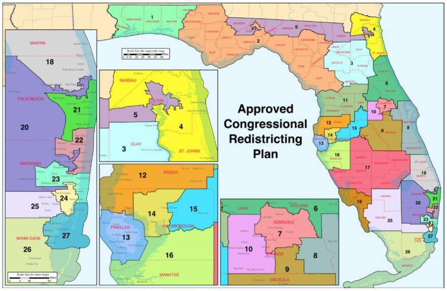 Florida Congressional Seats map