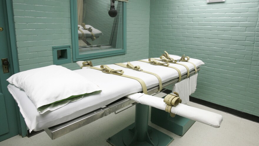 A gurney in Huntsville, Texas, where prisoners are executed. The death penalty was at the Supreme Court again Wednesday.