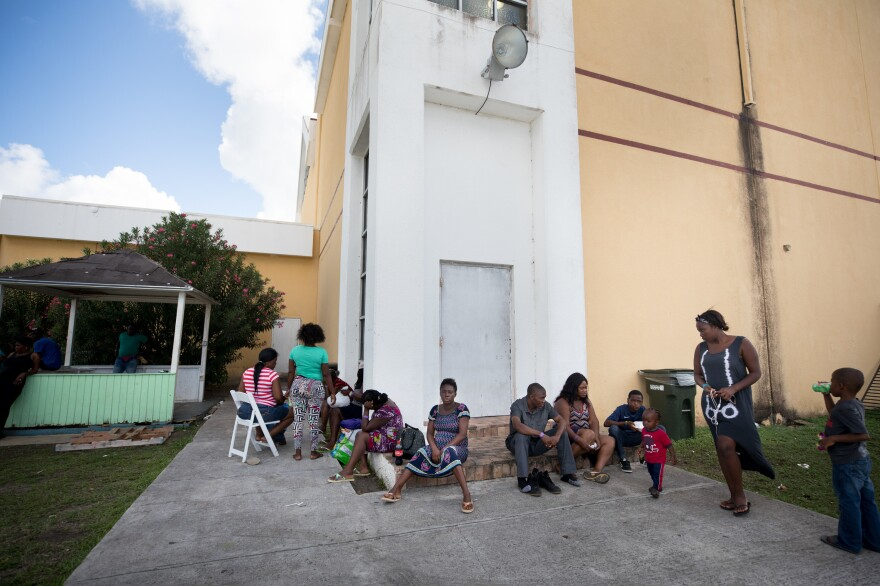 A month after Hurricane Dorian devastated the Bahamas, 14,000 people are still displaced and living in shelters like the Kendal Isaacs Gymnasium in Nassau. On Oct. 5, evacuees complained that the building temperature was so low that many spent time outdoors.