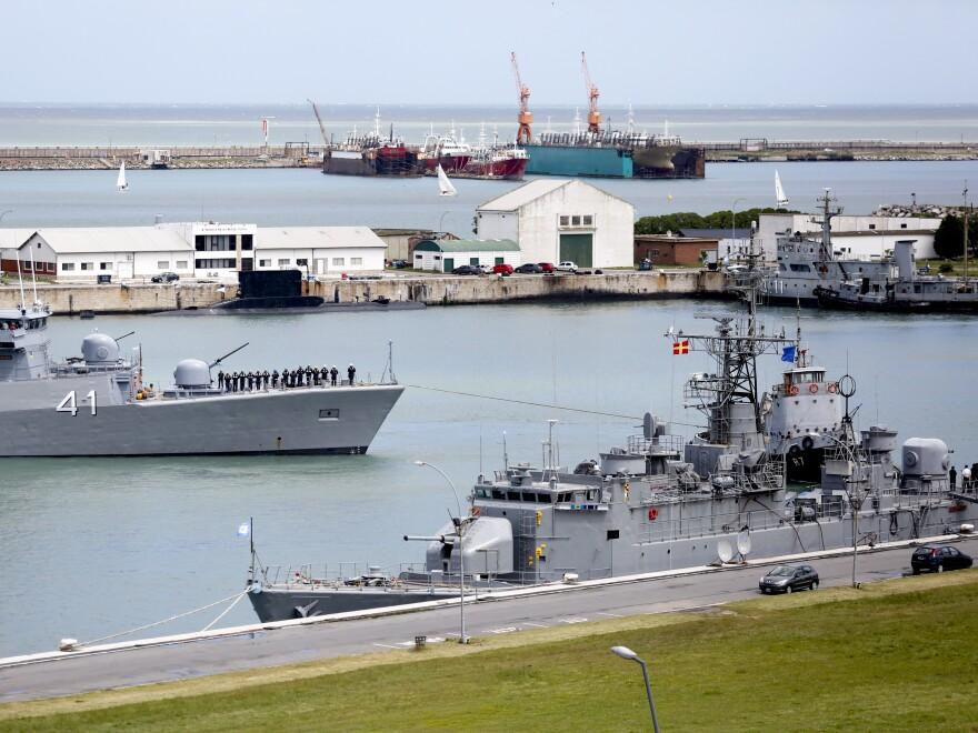 The naval base at Mar del Plata, Argentina, shown on Saturday.