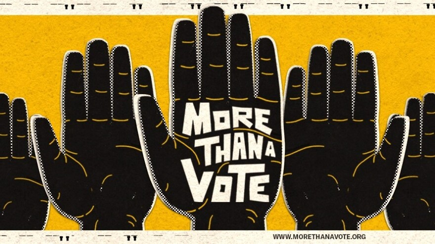 Hands Logo for More Than A Vote campaign