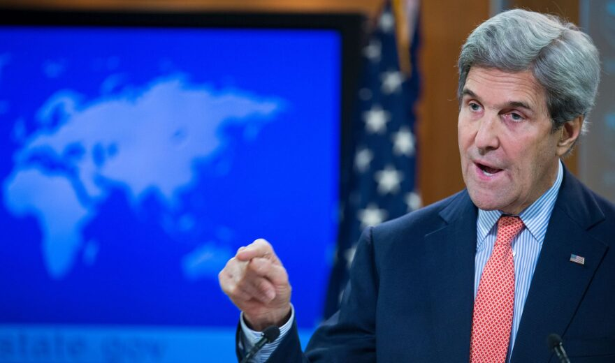 US Secretary of State John Kerry delivers remarks on the fighting in Syria on Dec. 15, 2016 at the State Department in Washington. (Paul J. Richards/AFP/Getty Images)