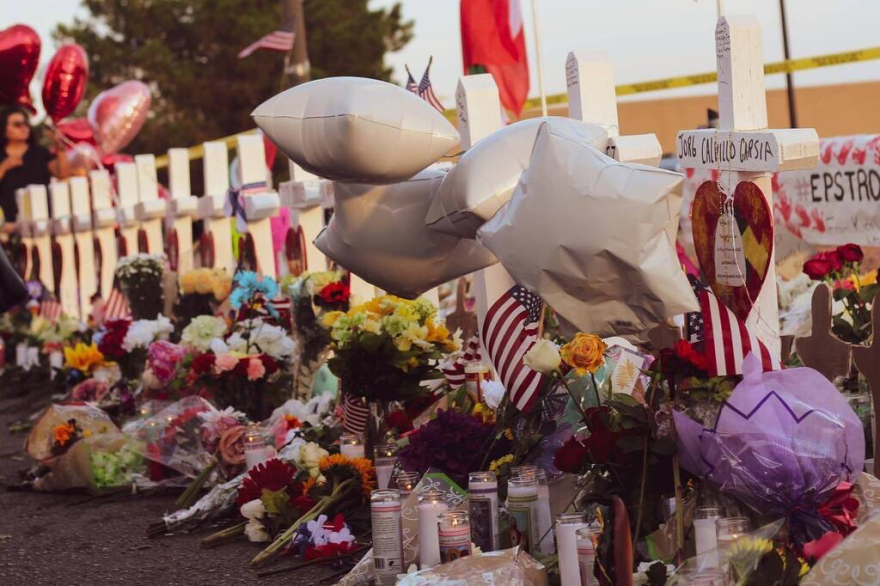 In the days after the mass shooting at the Cielo Vista Walmart, a makeshift memorial formed near the store's parking lot.