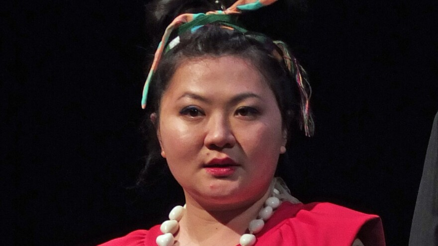Du Yun, in 2015. Her opera <em>Angel's Bone</em> was awarded the Pulitzer Prize for music.