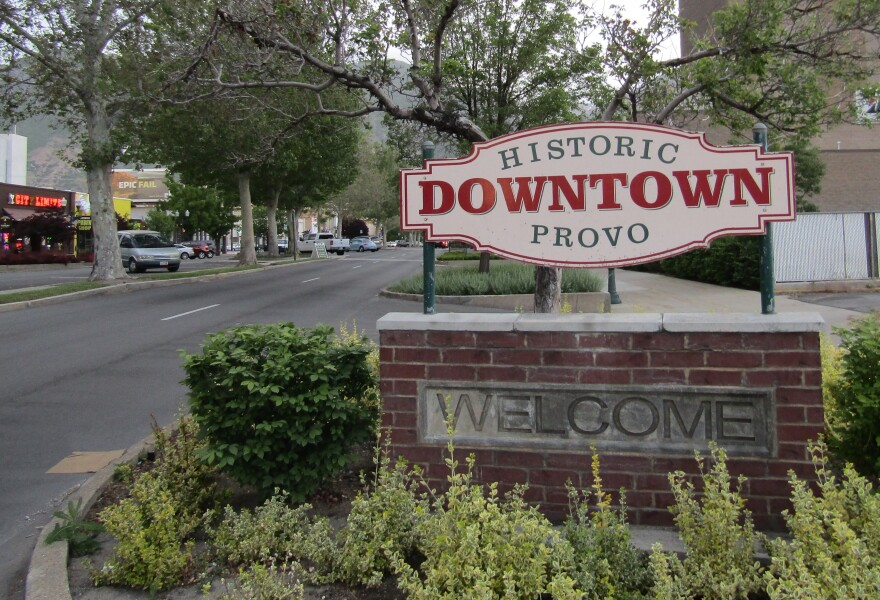 "Photo of a sign that reads ""historic downtown provo"""