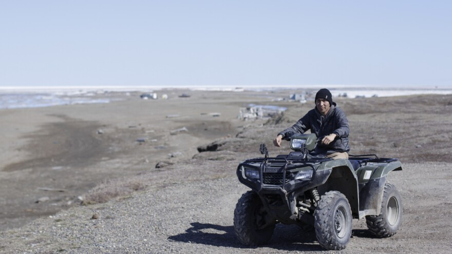 Nathan Gordon Jr., 24, patrols for polar bears in Kaktovik, and thinks oil exploration will bring new opportunities to the village.