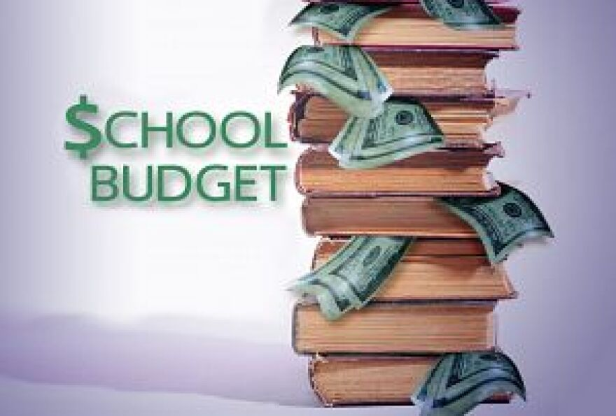 The Leon County School Board discusses the budget at its meeting today.