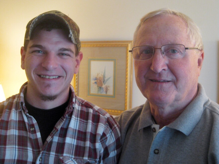 Daron Diepenbruck and his father, Jim Diepenbruck. Daron, who has lost more than 20 friends in the Afghan war, has left the Marines and is trying to figure out what he wants to do.