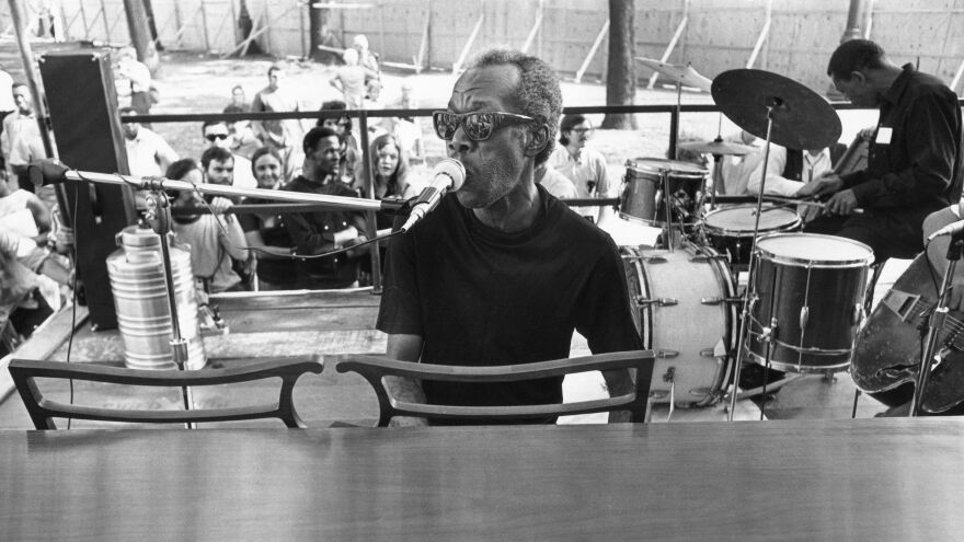 Professor Longhair plays at the 1971 New Orleans Jazz & Heritage Festival.