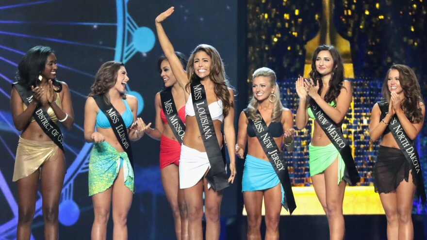 Laryssa Bonacquisti, Miss Louisiana 2017, participates in the swimsuit challenge during last fall's Miss America competition in Atlantic City, N.J. The segment won't be a part of the competition starting this year.