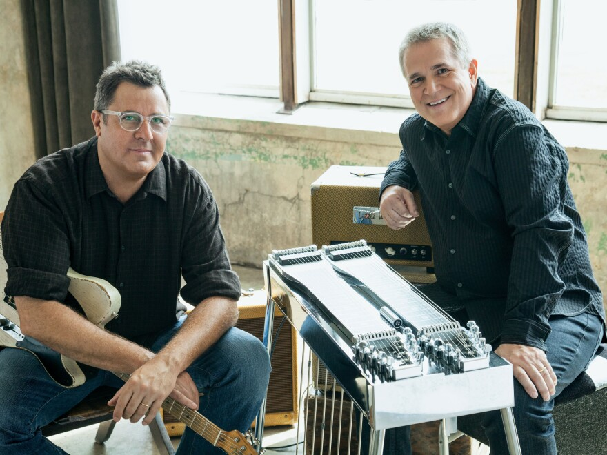 Vince Gill (left) and Paul Franklin.