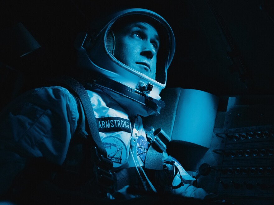 Ryan Gosling plays astronaut Neil Armstrong in Damien Chazelle's new film, <em>First Man.</em>
