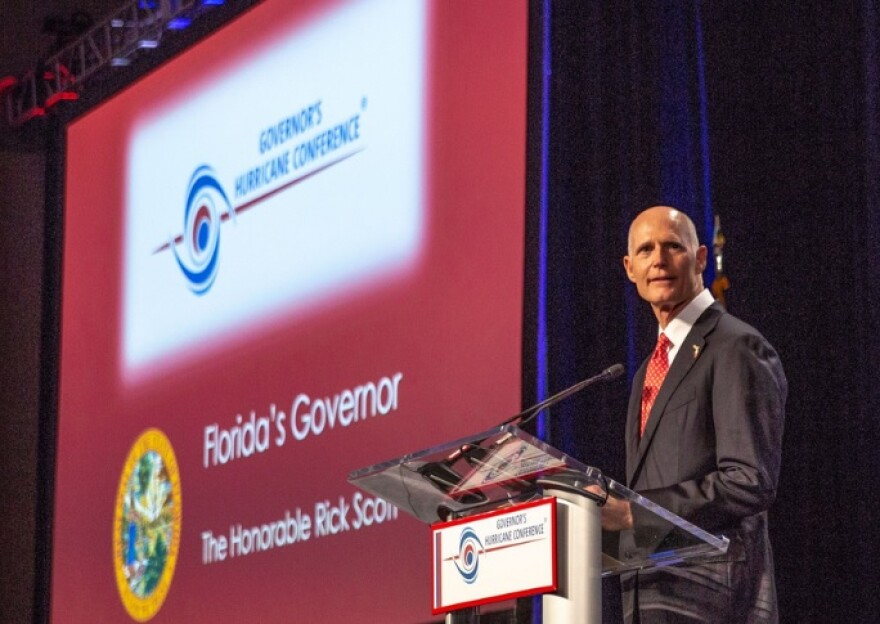Gov. Rick Scott speaking during the 32nd Annual Governor's Hurricane Conference.