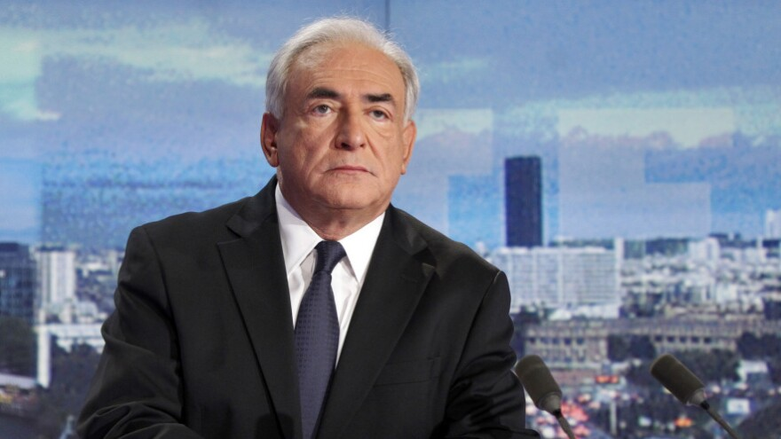 Dominique Strauss-Kahn in the studio of the French TV network TF1.