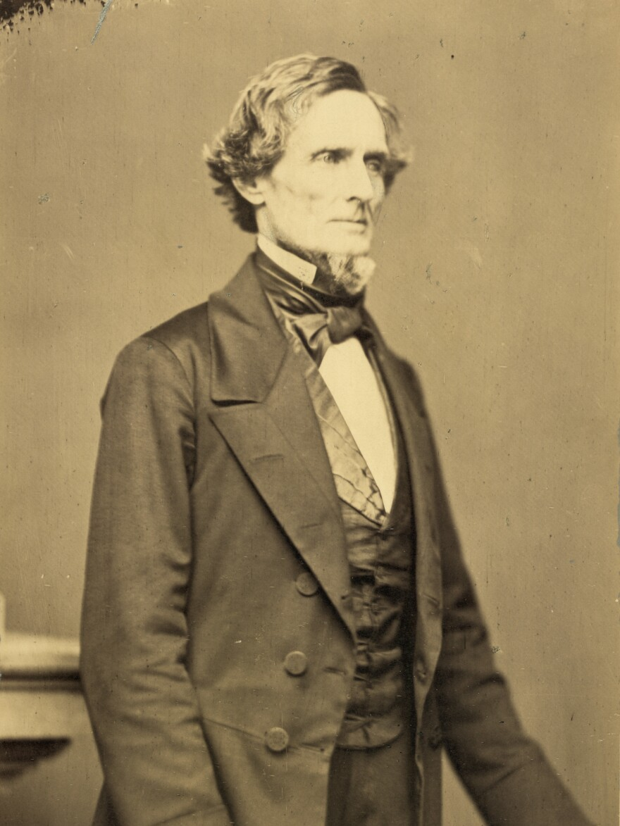 Jefferson Davis was president of the Confederacy. New Orleans removed a statue of him earlier this year.