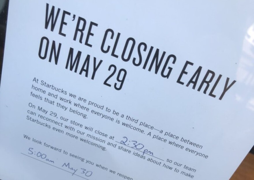 Company-wide anti-bias training closed down Starbucks stores on the afternoon of May 29.