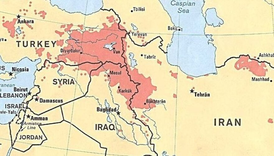 The Kurds are concentrated in four countries in the Middle East — Turkey, Syria, Iran and Iraq. They are a minority in all those states and do not have a country of their own.