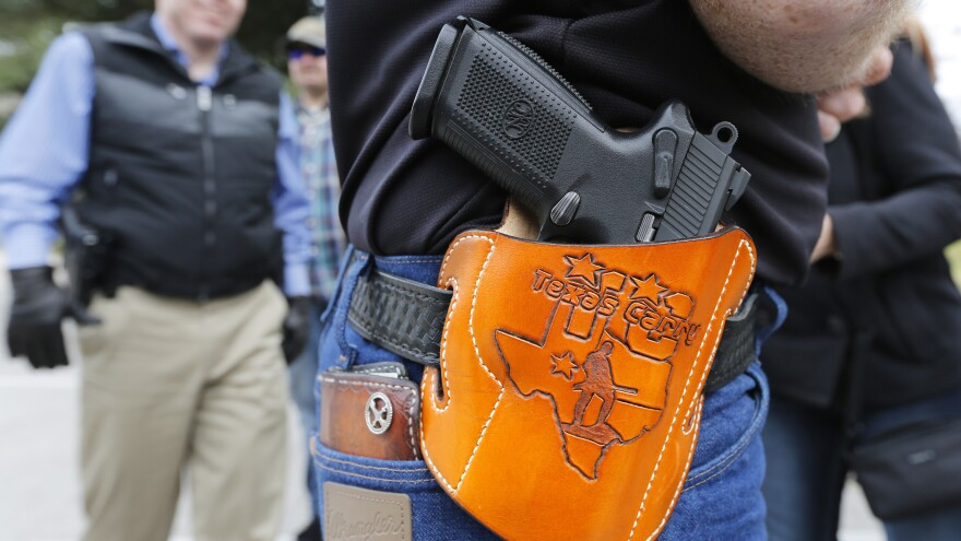 Activists held an open carry rally at the Texas state capitol on Jan. 1, 2016 in Austin, Texas.
