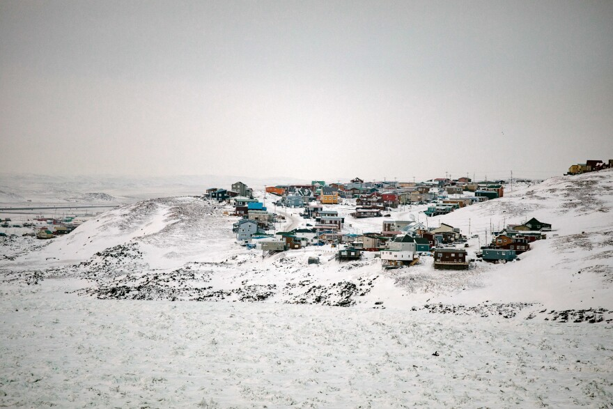 Iqaluit, pictured in winter, is the capital of the Canadian territory of Nunavut.