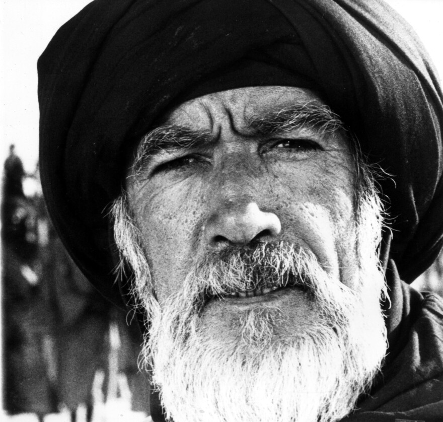 Actor Anthony Quinn played Hamza, the Prophet Muhammad's uncle, in <em>The Message. </em>The character of the prophet is never seen, only suggested.