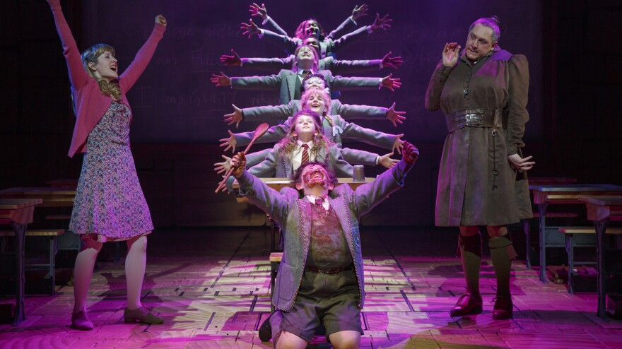 The Broadway musical <em>Matilda</em> put NPR's Bob Mondello in mind of two other big-budget tuners with plucky kids at the center of the action — and got him thinking about what these shows say about their eras.