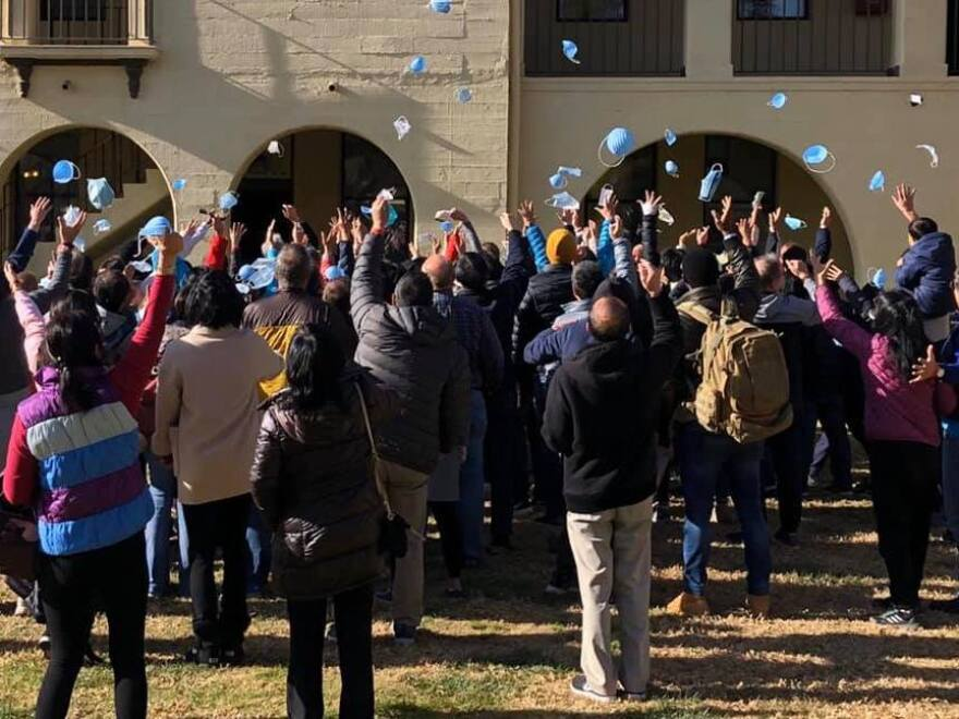 """""""Our guests at March Air Reserve Base are happy to see an official end today to their 14-day quarantine,"""" Riverside University Health System - Public Health said via Facebook Tuesday. The 195 Americans are now free to leave the base."""