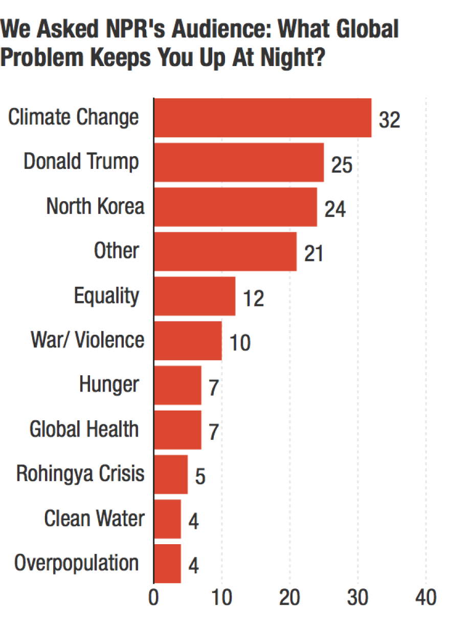 Chart: What global problem keeps you up at night?