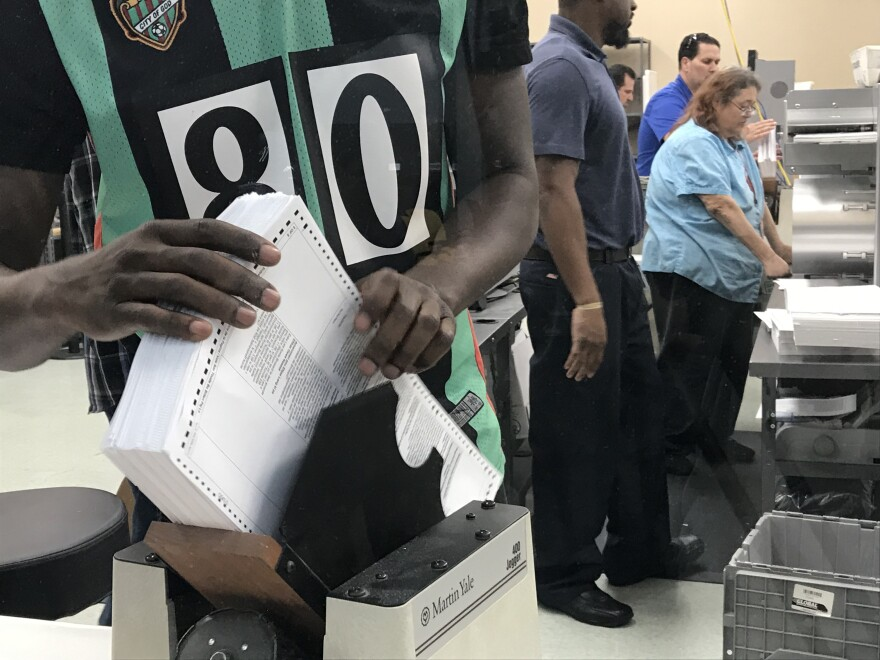More than three hours behind schedule, staff at the Broward Supervisor of Elections Office began sorting all of the Page Ones from ballots. The true recount is expected to start Monday afternoon.