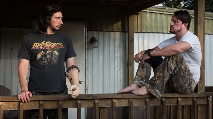 Brothers Clyde (Adam Driver) and Jimmy Logan (Channing Tatum) in Steven Soderbergh's <em>Logan Lucky.</em>