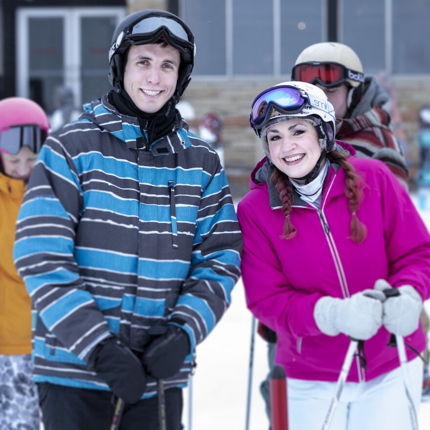Michelle Kamke of Madison, Wis., and Troy Norris of Chicago met on a ski lift at Wilmot Ski Resort's speed dating event.