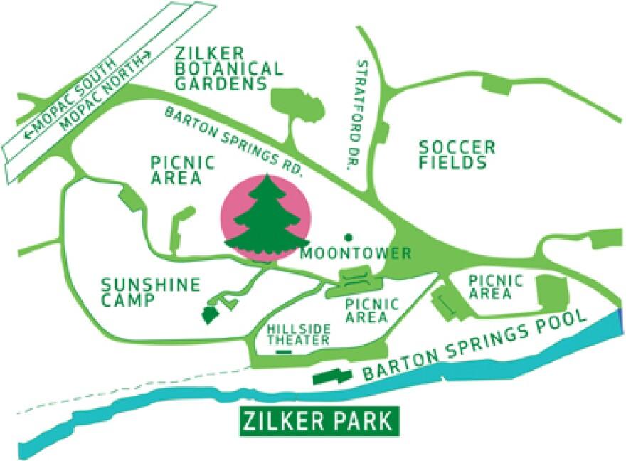 Map of Zilker Park