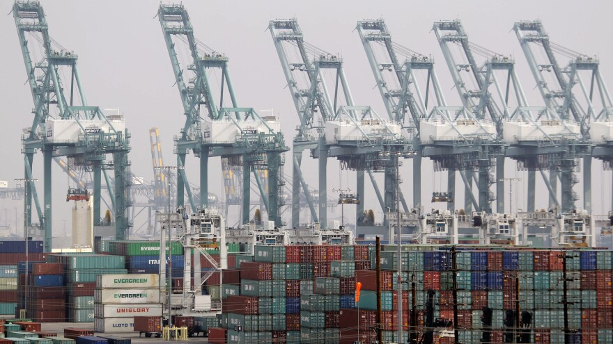 The Port of Los Angeles is the busiest port in North American, and it's where many merchant mariners bid for jobs. But a proposed change to the U.S. food aid program could mean shipping out less food to developing countries, and fewer jobs.