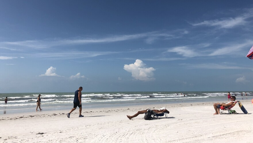 Siesta Key Beach in October of 2019. Jessica Meszaros/WUSF