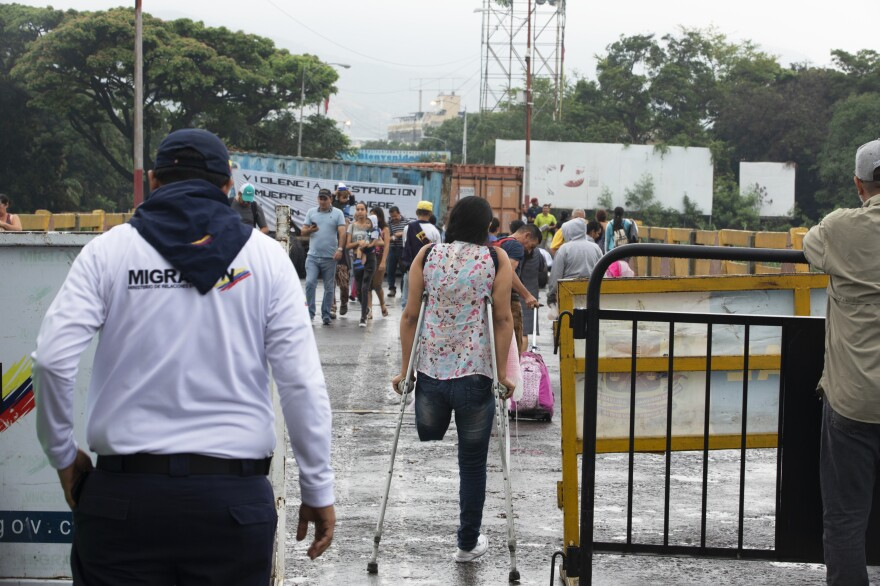 The Simón Bolívar International Bridge connects Colombia to Venezuela. For the past month it has been closed to vehicles and to most foot traffic.