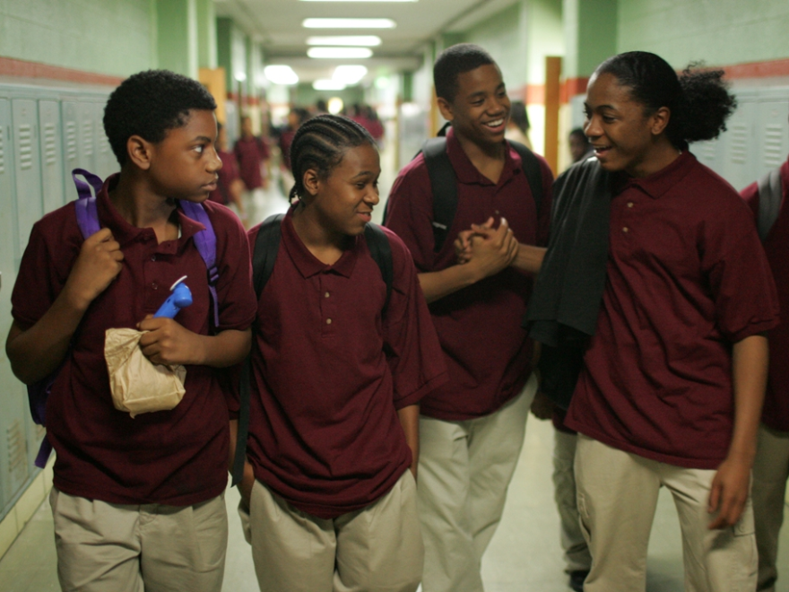 Actors Jermaine Crawford, Maestro Harrell, Tristan Wilds and Julito McCullum portray Baltimore students in the show's fourth season<em>.</em>