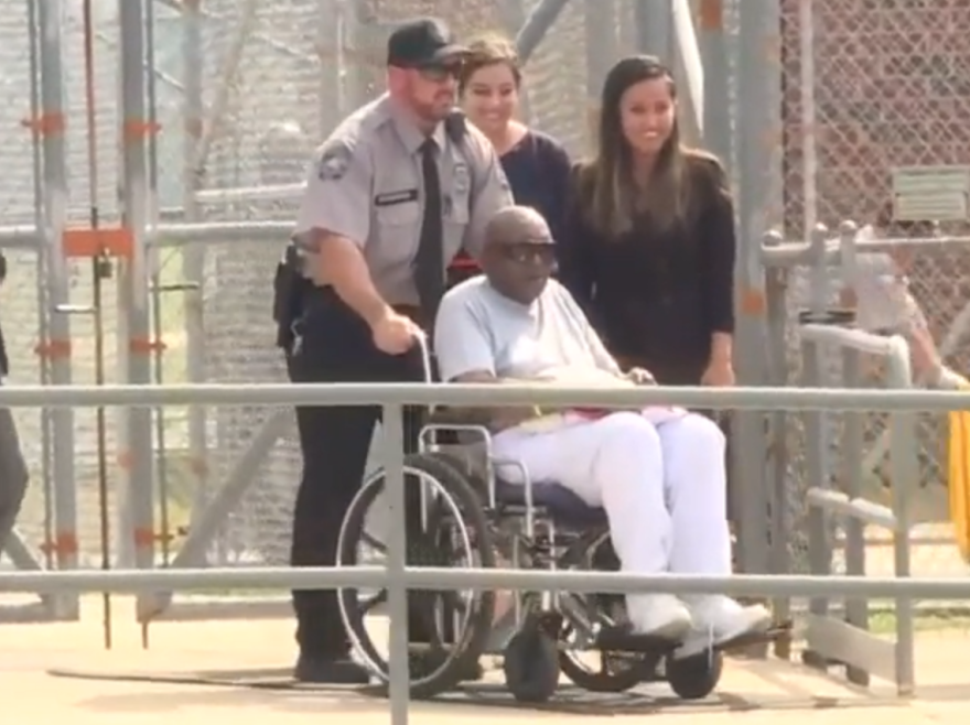Charles Ray Finch leaved the Green Correctional Institute in maury in a wheelchair in May, after serving 43 years for a Wilson County murder conviction.