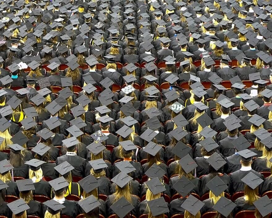 graduationcapsfromaboveFlickrjohnwalker.JPG