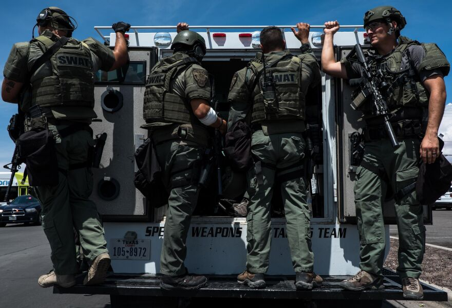 """El Paso Police Department Chief Greg Allen said the suspect surrendered to authorities """"upon being seen"""" outside the Walmart where the shooting took place."""