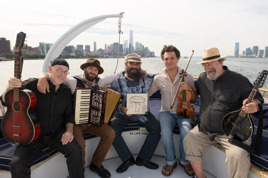 The Brothers Nazaroff is five klezmer musicians from three continents, brought together by a love of the curious 1954 recording <em>Jewish Freilach Songs.</em>
