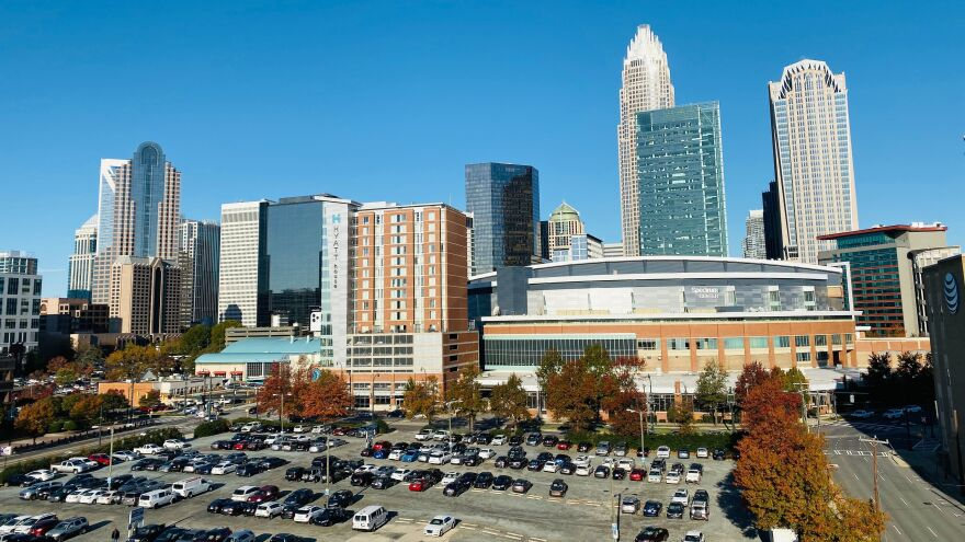 The Spectrum Center in Charlotte, North Carolina where the 2020 Republican National Convention will be held. GOP officials insist there are no plans to cancel or delay the August gathering due to coronavirus pandemic but say some changes may needed for public health reasons.