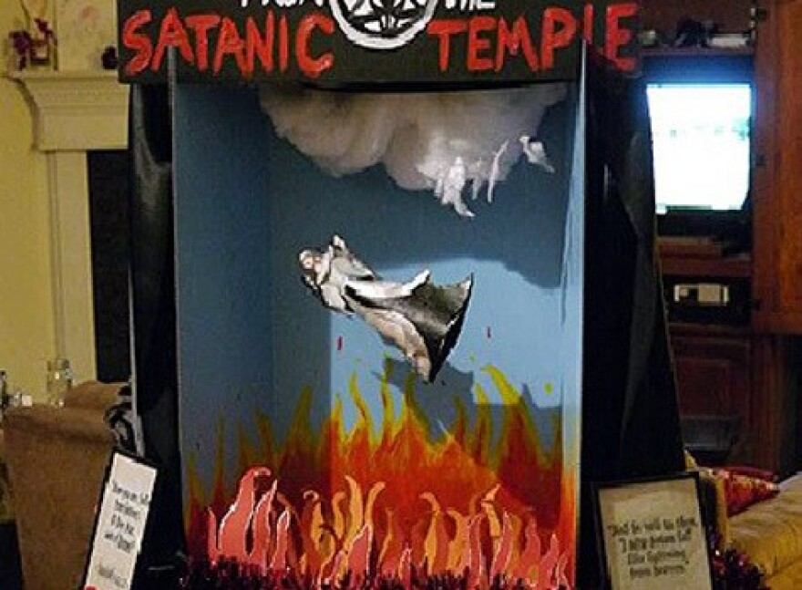 The Satanic Temple plans this display for the first floor of the Florida Capitol. The group's application for the same display last year was denied.