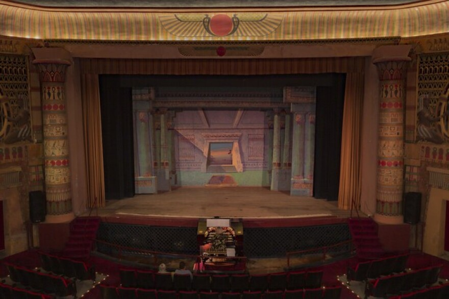 The interior of the history Egyptian Theatre in Coos Bay. The historic theater received a federal grant to help replace the roof, which has been up since 1925.