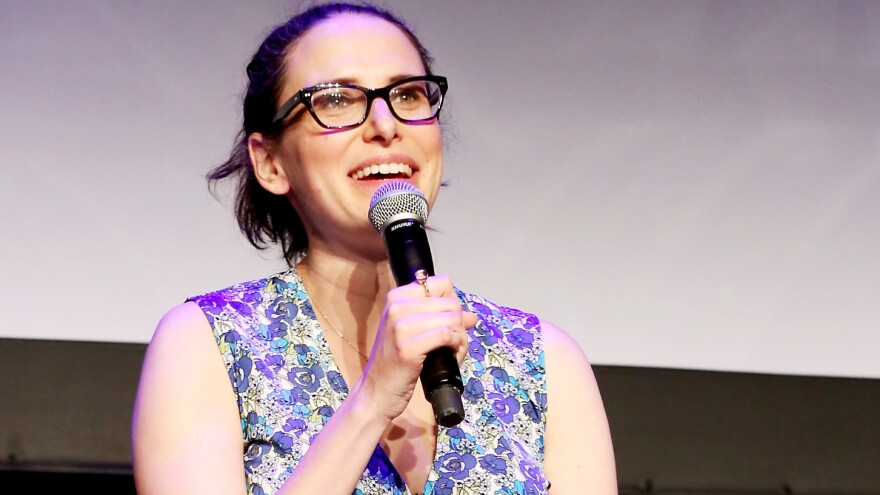Comedy writer Jessi Klein speaks at the Tribeca Film Festival in 2015. Klein has also written for <em>Saturday Night Live</em> and <em>Transparent</em>.
