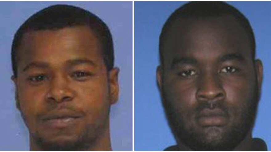 This combination of undated photos released the Mississippi Bureau of Investigation shows, Marvin Banks, left, and his brother Curtis Banks. The brothers have been arrested in connection with the fatal shooting of two Hattiesburg, Miss., police officers on Saturday.