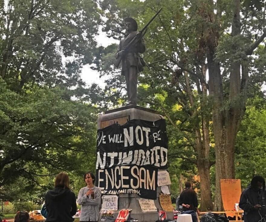 Silent Sam Confederate monument