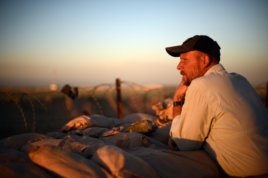 May 2013: David Gilkey at Camp Dwyer in Helmand province, Afghanistan.